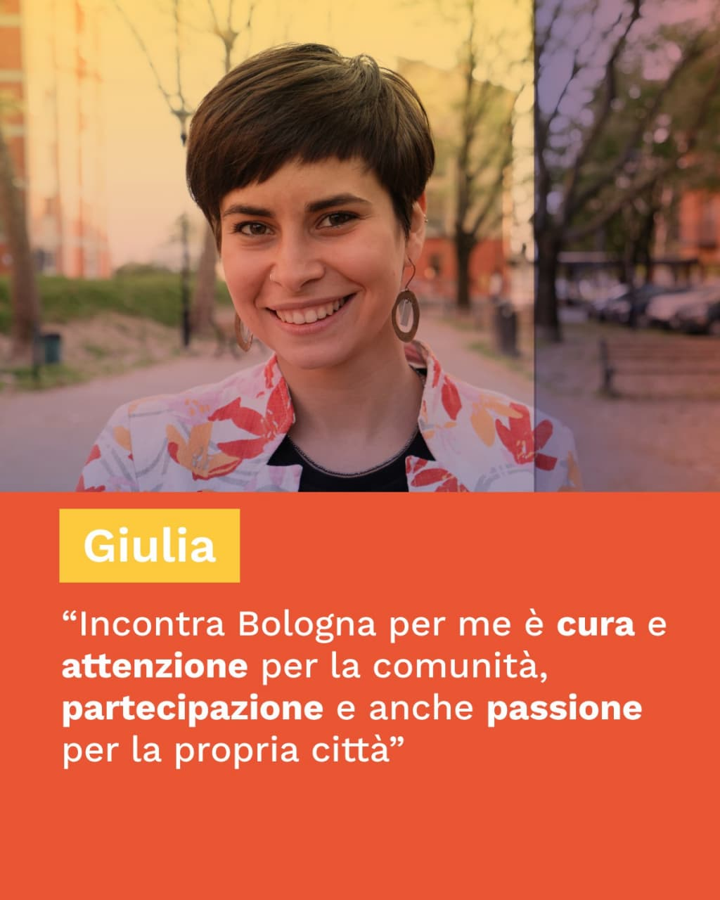 cos'è incontra bologna per Giulia