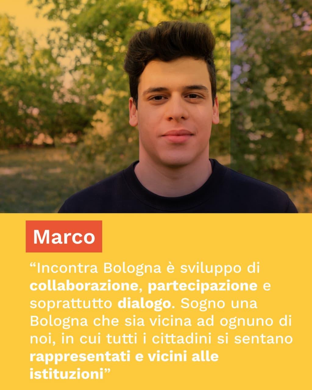 Cos'è incontra bologna per Marco